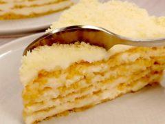 Торт «Пломбир» на сковороде