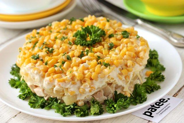 ТОП-9 салатов с ананасами