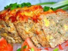 Мясной хлебец с сыром — достойная замена котлетам!