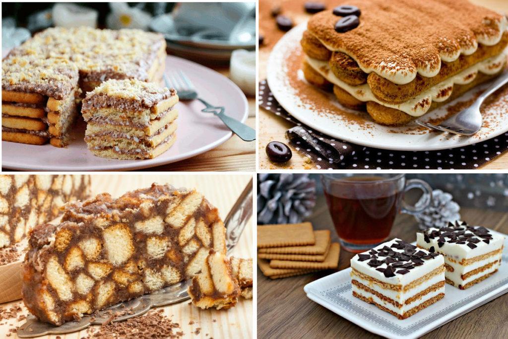 ТОП 5 лучших тортов из печенья без выпечки
