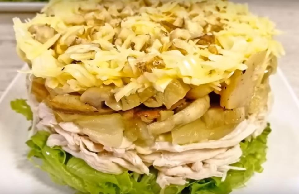 Потрясающий салат к 8 марта