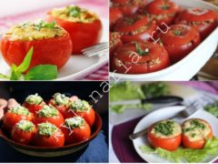 Фаршированные помидоры на сковороде: простой летний рецепт