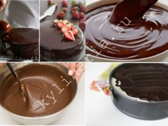 Готовим шоколадную зеркальную глазурь с добавлением желатина