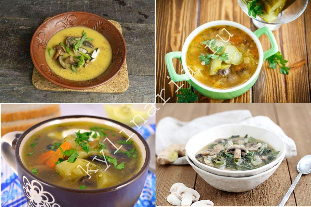 Грибной суп с маринованными огурцами: готовим первое блюдо в мультиварке