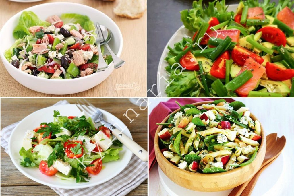Летний салат без майонеза