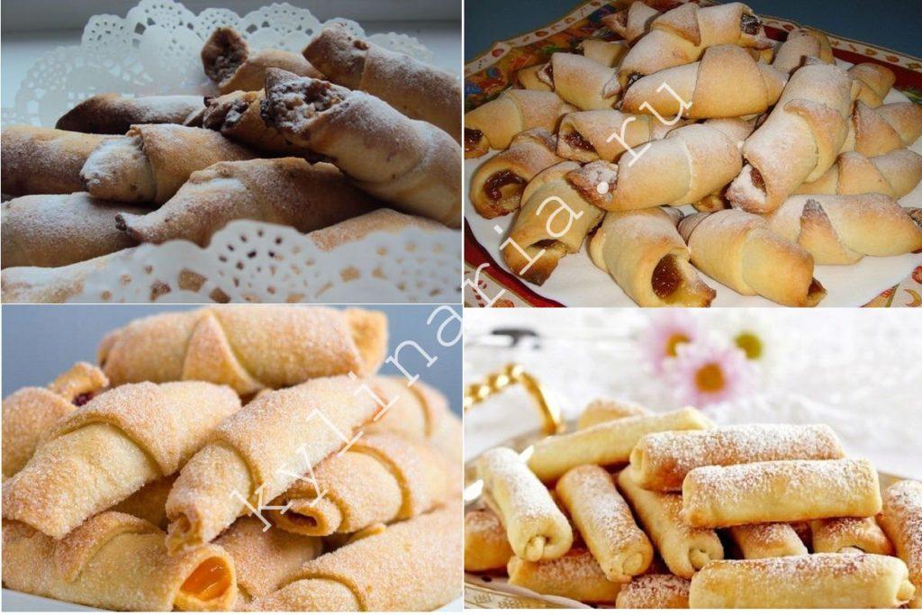 Песочные трубочки с начинкой: вкусное печенье к чаю
