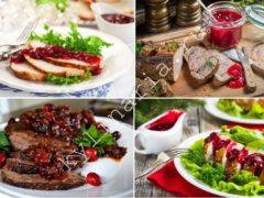 Рецепт мяса на кости с добавлением клюквенного соуса