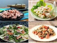 Салат из скумбрии горячего копчения: свежий и очень вкусный