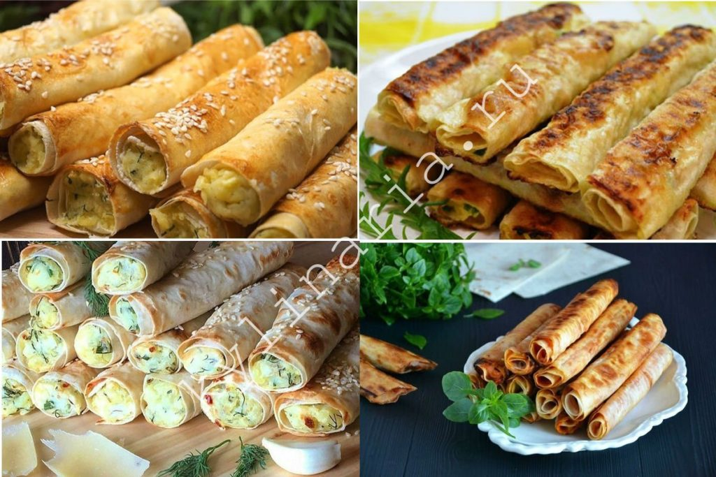Сырные трубочки: простое блюдо на перекус