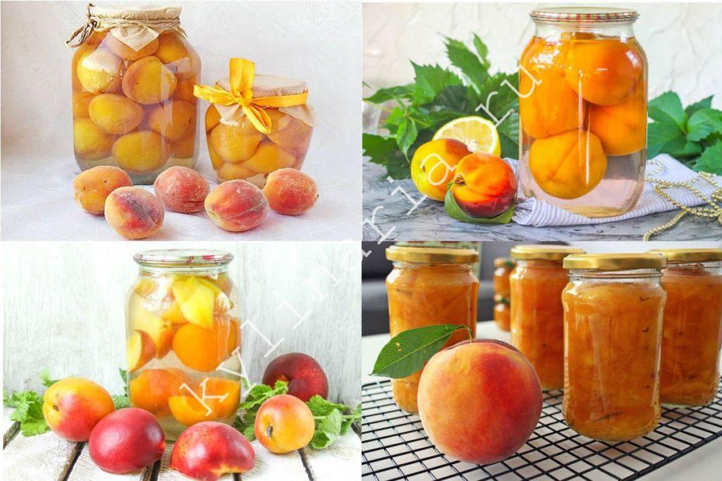 Заготовки из персиков на зиму: рецепты заморозки
