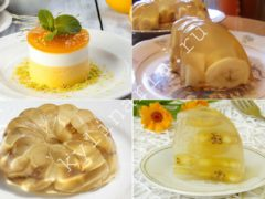 Желе из белого вина с бананами — Изысканный десерт с тонким ароматом вина