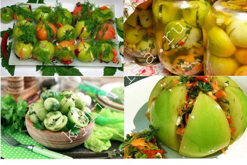Жгучие фаршированные зеленые помидоры на зиму