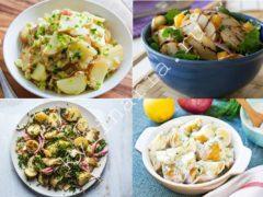 Салат из молодого картофеля и зелени