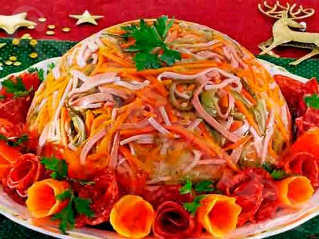 Салат «Серпантин» с корейской морковью