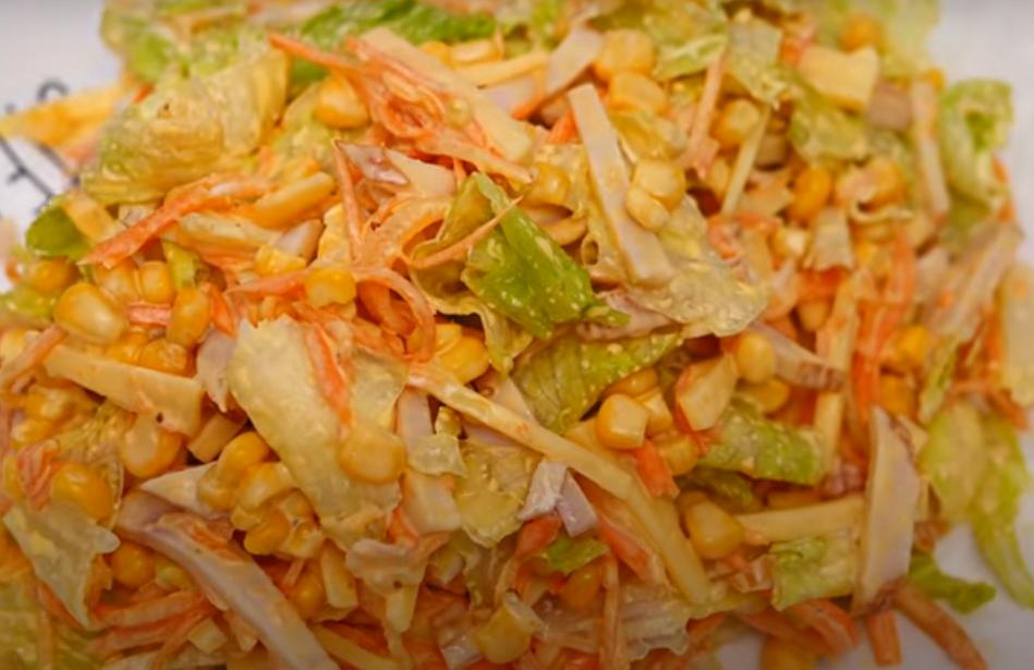 Отличный салат к к праздничному столу