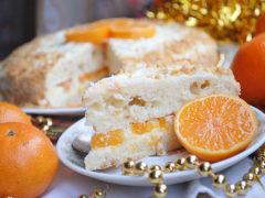 Нежный торт с мандаринами