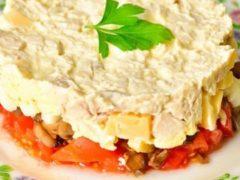 Праздничный салат «Чикаго» с курицей — всегда получается супер удачно!