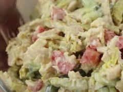 Салат «Герцогиня» — самые простые ингредиенты, а результат праздничный салат. 10 минут и готово