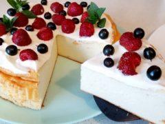 Вкусный творожный десерт без муки с ягодами. Райский вкус!