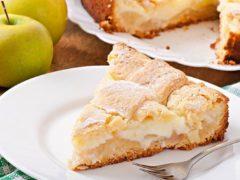 Бесподобный пирог с кремом и яблоками. Простой и быстрый!
