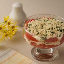 Моментальный салат «Ежедневный» из помидоров на каждый день