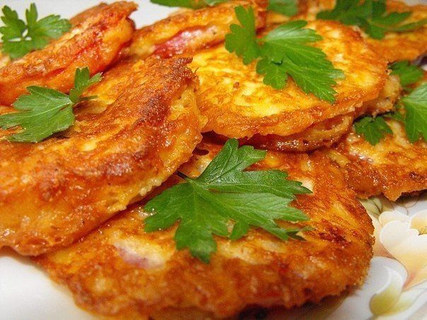 Жареные помидоры в сырном кляре - нежное и сочное объедение